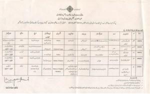 date sheet MA 5